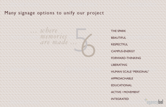 signage, wayfinding, and environmental graphics for 56 Center on Nantucket